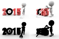 3d man 2015 tire tool concept collections with alpha and shadow channel Royalty Free Stock Images