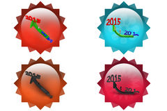 3d man 2014 to 2015 arrow icon Royalty Free Stock Photography