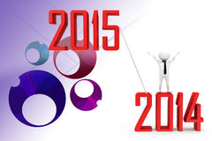 3d man 2014 to 2015 illustration Stock Image