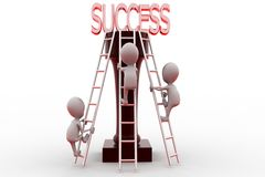 3d man to success concept Royalty Free Stock Photo