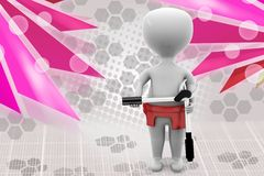 3d man tool illustration Royalty Free Stock Images