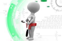 3d man tool illustration Royalty Free Stock Photos