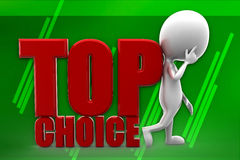 3D Man Top Choice illustration Stock Photography