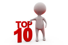 3d man top 10 concept Royalty Free Stock Images