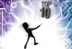 3d man top 10 illustration Stock Images