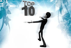 3d man top 10 illustration Royalty Free Stock Photos