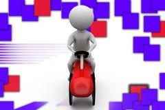 3d man toy car illustration Royalty Free Stock Image
