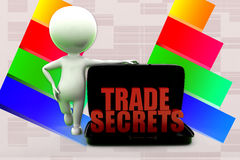 3d Man Trade Secrets Illustration Royalty Free Stock Photo