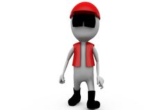 3d man traffic oficer concept Royalty Free Stock Image