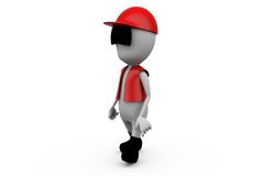 3d man traffic oficer concept Royalty Free Stock Images