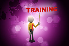 3d man with training text Stock Photography