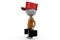 3d man traveler concept Royalty Free Stock Image
