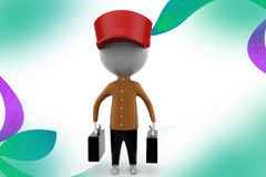 3d man traveler illustration Royalty Free Stock Photography