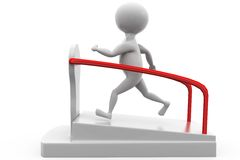 3d man on treadmill concept Stock Image