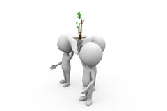 3d man tree concept Royalty Free Stock Image