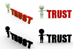 3d man trust Concept Collections With Alpha And Shadow Channel Royalty Free Stock Image
