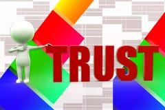 3d Man Trust Illustration Royalty Free Stock Photos