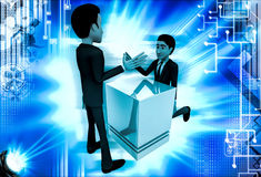 3d man trying to prove strenght through armfight illustration Stock Photography