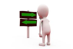 3d man two path concept Stock Images