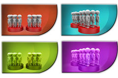 3d Man two team concept icon Royalty Free Stock Photos