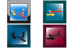 3d man two way icon Stock Image
