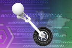 3d man tyres illustration Stock Image