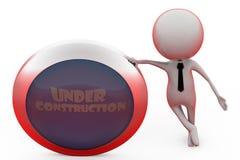 3d man under concstruction concept Stock Photo