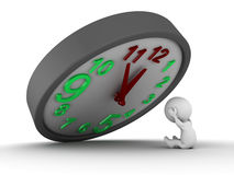 3D Man under overtime pressure Royalty Free Stock Photos
