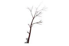 3d man under the tree concept Stock Image