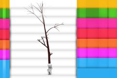 3d man under the tree illustration Royalty Free Stock Photography