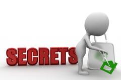 3d man unlock secrets Stock Image