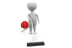 3d man vaccum cleaner concept Stock Photos