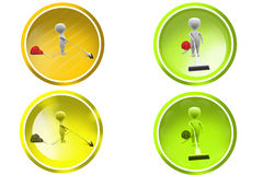 3d man vaccum cleaner icon Royalty Free Stock Photography