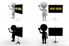 3d man veru good concept collections with alpha and shadow channel Stock Image
