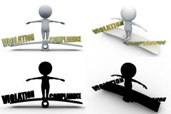 3d man violation and compliance concept collections with alpha and shadow channel Stock Photo