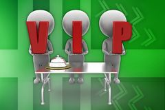 3d man vip illustration Stock Photos