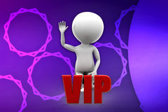 3d man with vip illustration Stock Photo