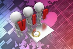 3d man vip illustration Stock Image