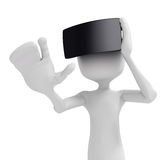 3d man with  virtual reality goggles Royalty Free Stock Image