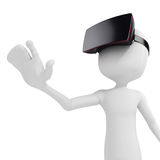 3d man with  virtual reality goggles Royalty Free Stock Photos