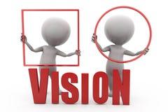 3d man vision concept Stock Photos