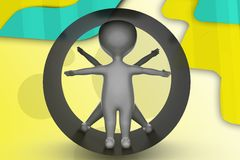 3d man vitruvian man illustration Stock Image