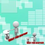 3d man wait for respond Illustration Royalty Free Stock Photos