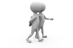 3d man walk with friend concpet Royalty Free Stock Photos