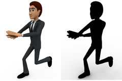3d man walking and clapping concept collections with alpha and shadow channel Royalty Free Stock Image