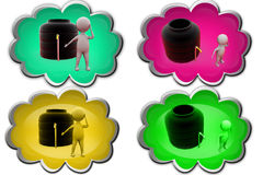 3d man water storage tank icon Stock Image