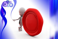 3d man wax seal illustration Stock Photos