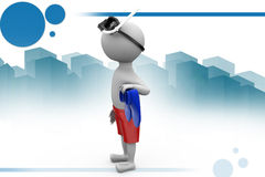 3d man wearing snokering gear  illustration Royalty Free Stock Images