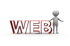 3d man web concept Stock Image