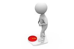 3d man weight concept Stock Images